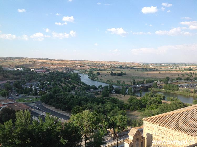 Вид с города Толедо - фото