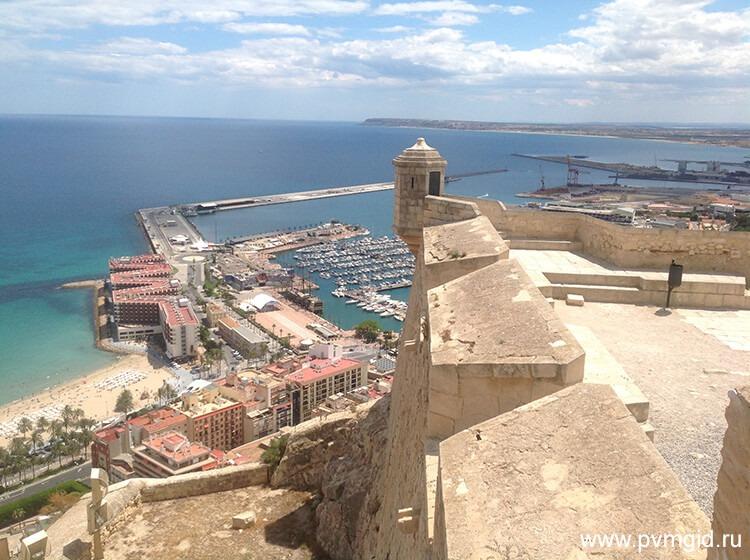 Вид с крепости Санта Барбара