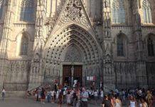 Готический квартал в городе Барселона