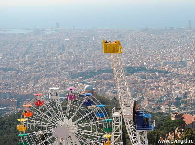 Барселона с высоты птичьего полета - фото