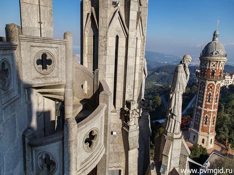 Вид на Барселону со смотровой площадки - фото