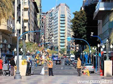 Торговая улица Аликанте - фото