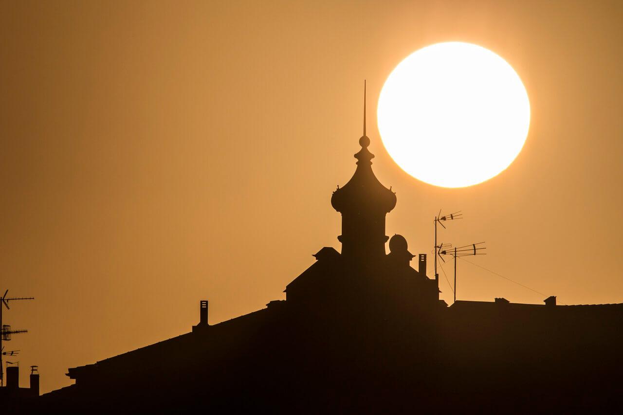 Город Хихон - закат - фото