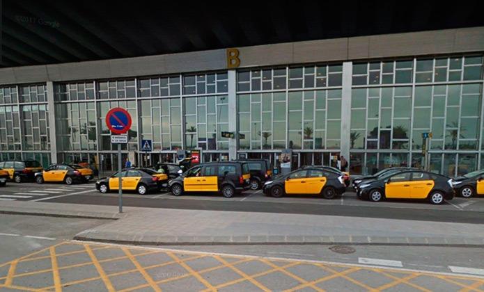 Такси в аэропорту Эль Прат в Барселоне