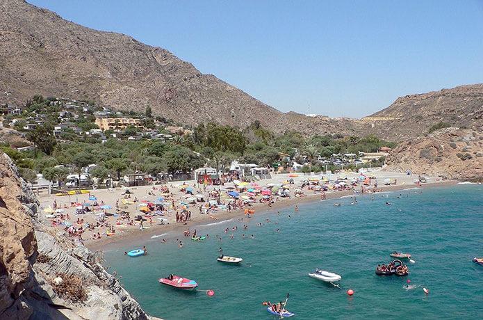 Пляж в испанской Картахене