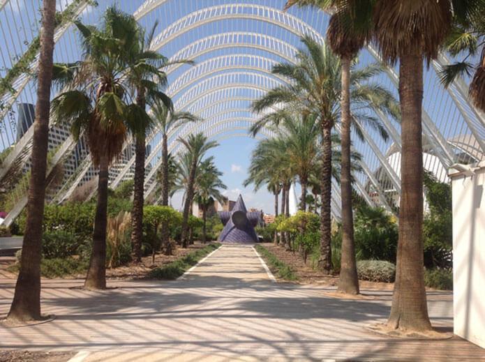 Садово-парковый комплекс - оранжерея в городе науки и искусств