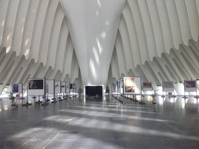 Выставочный зал в музее принца Филипе в Валенсии