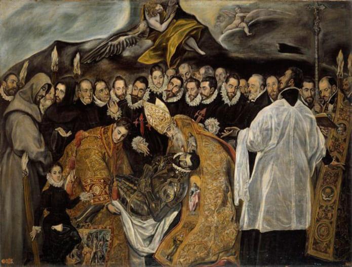 """""""Погребение графа Оргаса"""" - картина Эль Греко"""