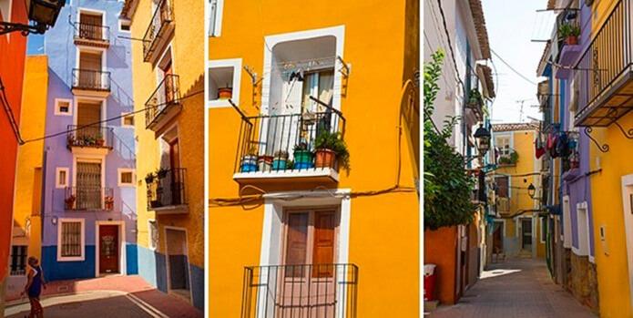 Разноцветные домики Вильяхойосы - фото