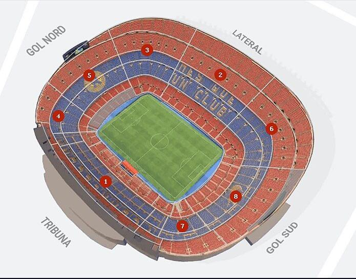 Домашний стадион Барселоны – Камп Ноу