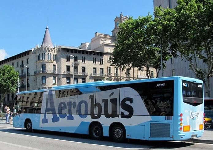 Аэробус в Барселоне - фото