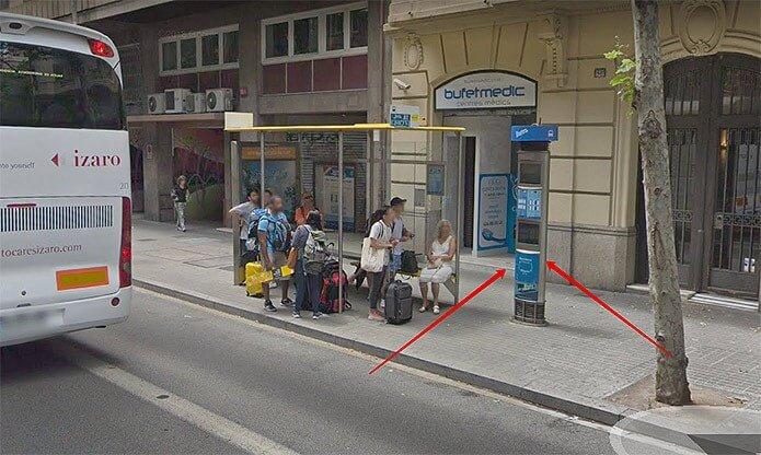 Автомат по продаже билетов на аэробус - фото