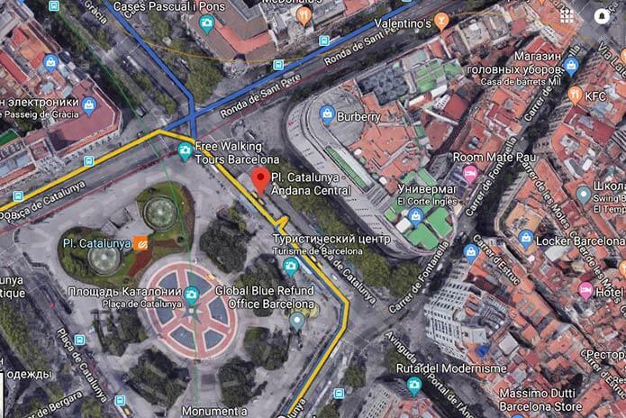 Остановка наплощадиКаталонии - фото