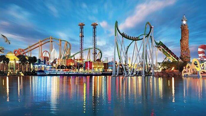Вид на парк развлечений Порт Авентура - фото