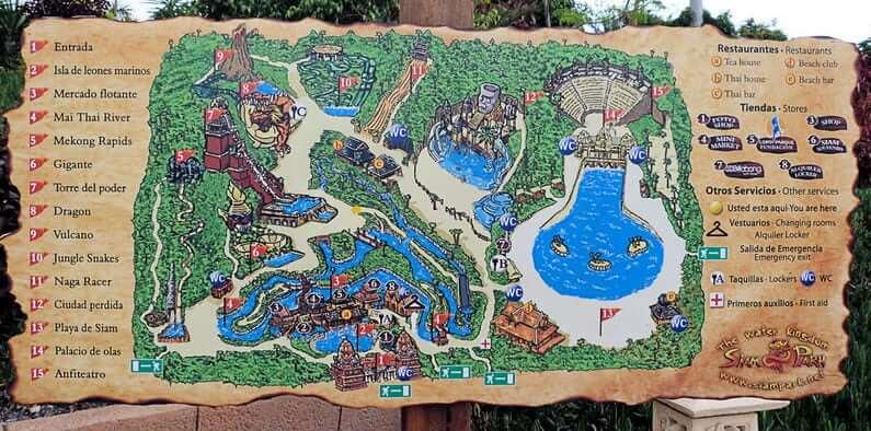 Схема Сиам Парка - фото