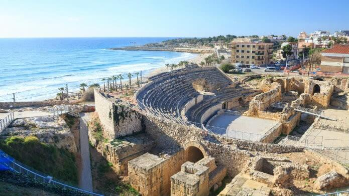 Вид сверху на амфитеатр Таррагоны - фото